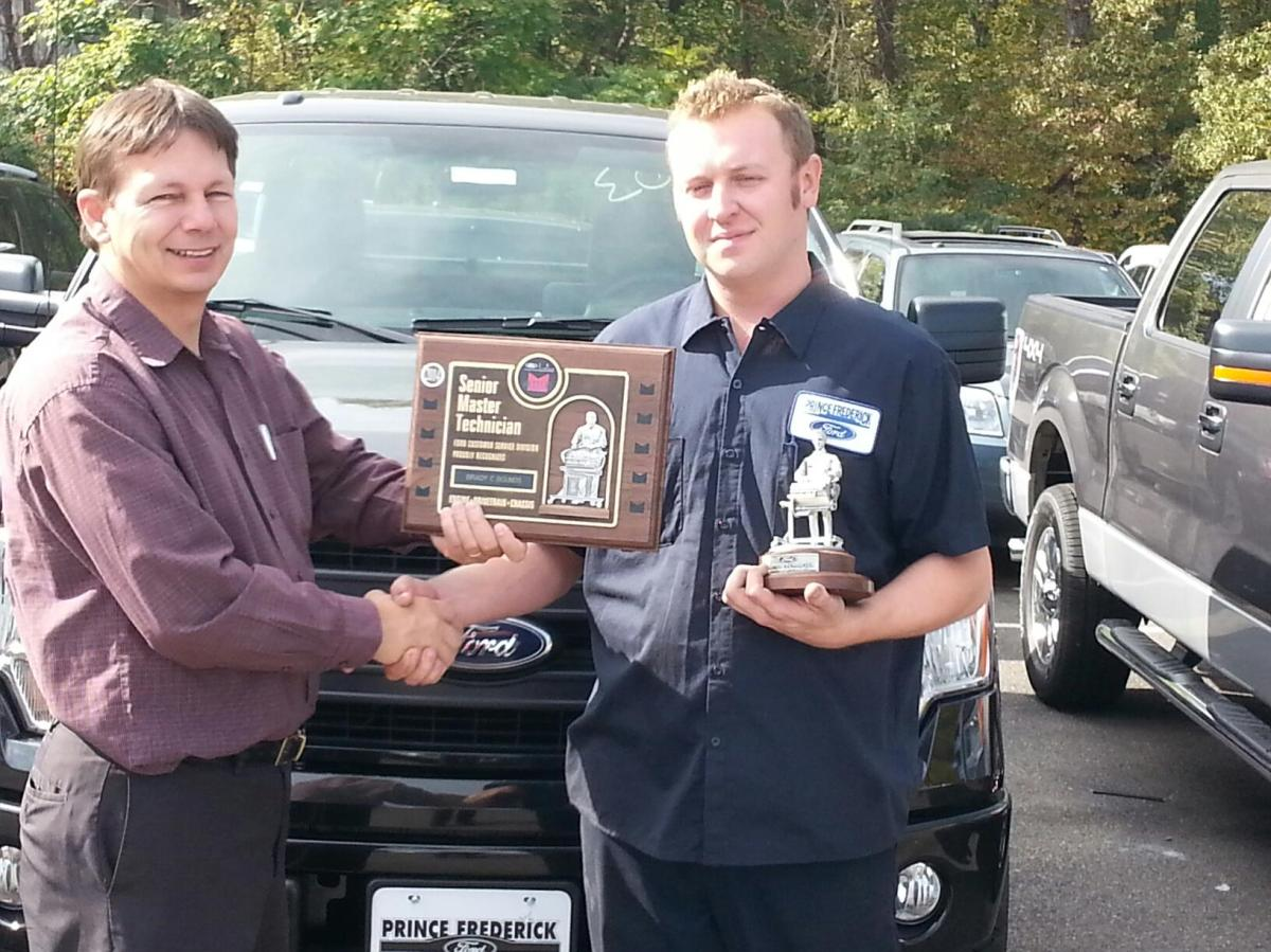 Local prince frederick ford technician receive top for The frederick motor company